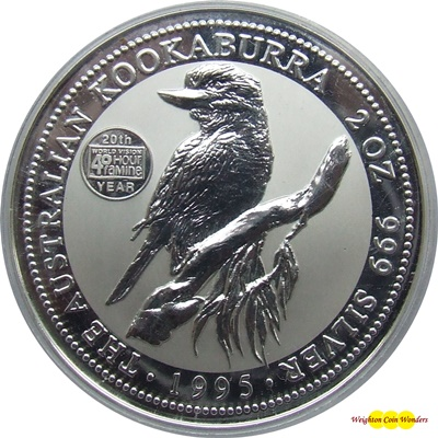 1995 Silver 2oz KOOKABURRA - World Vision Privy Mark